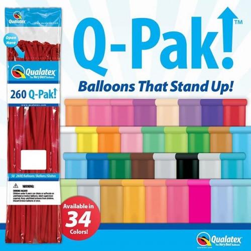 Qualatex Q-Pak Qualatex Q-Pak 260Q Yellow Modelling Balloons 50 Pack